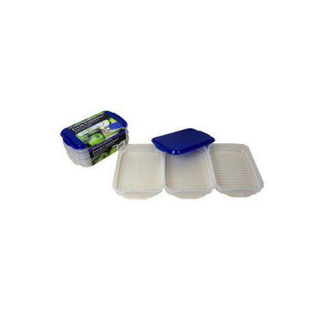 Plastic container storage set pack of 3 ( Case of 6 )