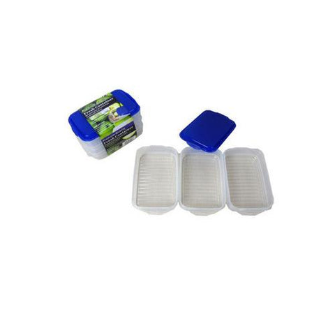 Plastic storage container set pack of 3 ( Case of 16 )