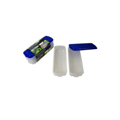 Rectangular plastic storage container pack of 2 ( Case of 8 )
