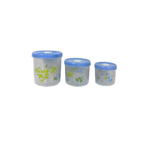 Decorative food containers set of 3 ( Case of 4 )