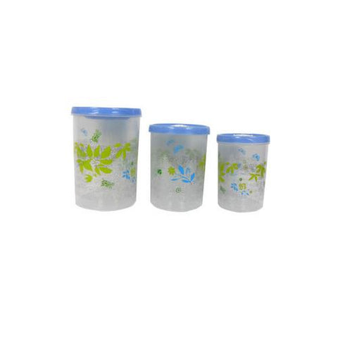 Decorative storage containers pack of 3 ( Case of 4 )