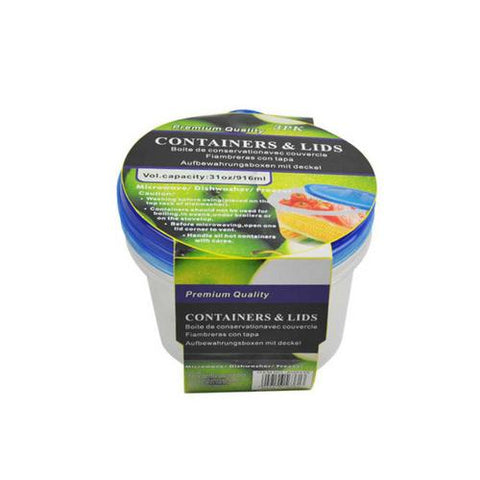Storage containers with lids pack of 3 ( Case of 32 )