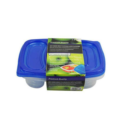 2-section storage containers pack of 2 ( Case of 36 )