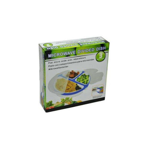 3-compartment microwave dish ( Case of 8 )