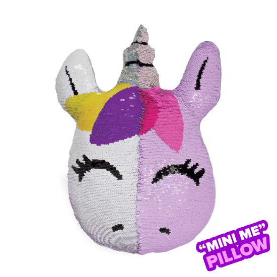 Mini Unicorn Reversible Sequin Pillow