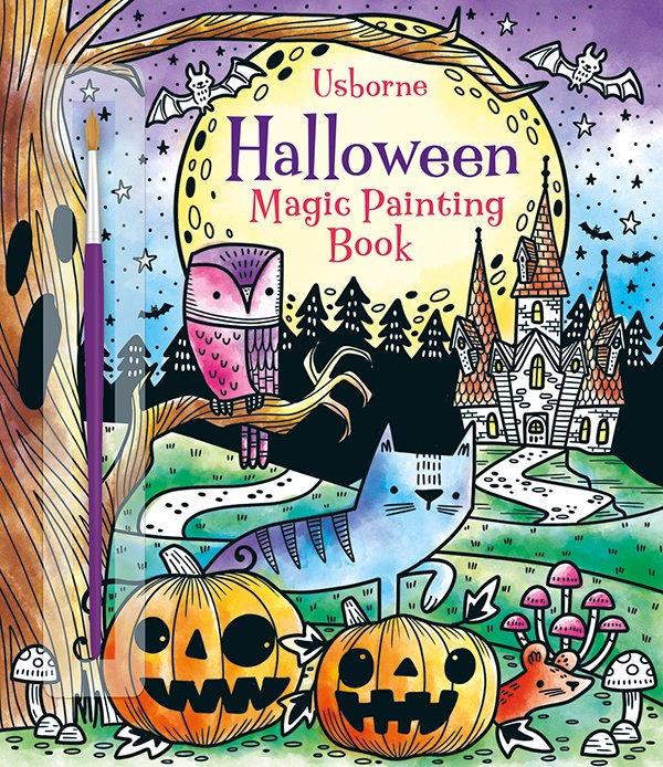 Halloween Magic Painting Book