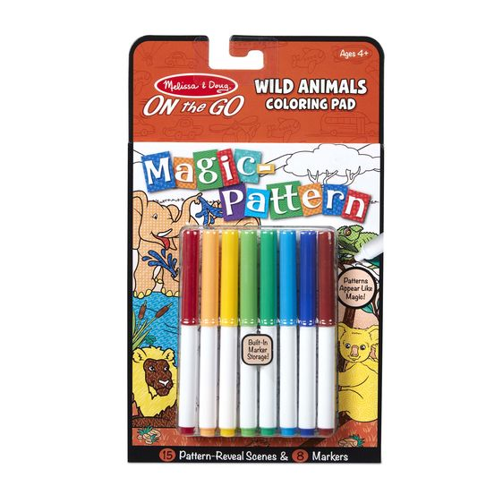 Magic-Pattern Wild Animals Coloring Pad