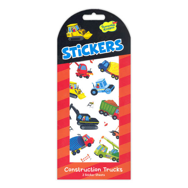 Construction Trucks Sticker Pack