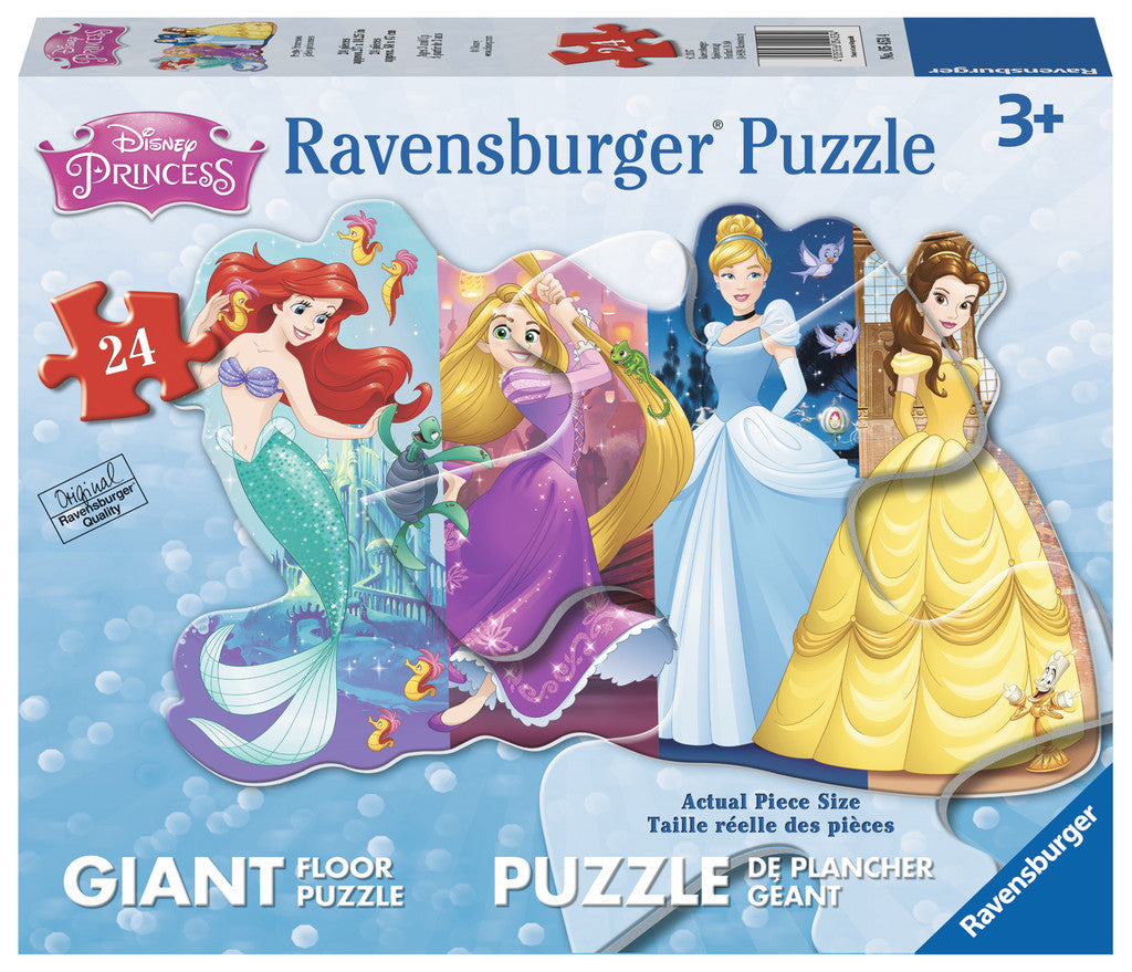24 PC Pretty Princess Shaped Floor Puzzle