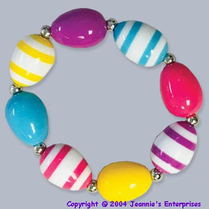 Easter Egg Bead Bracelet
