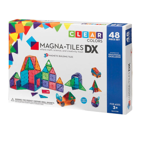 48 PC Clear Magnatiles Deluxe Set