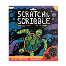 Load image into Gallery viewer, Ocean Life Scratch & Scribble