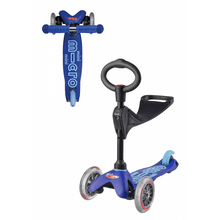 Load image into Gallery viewer, Blue 3in1 Micro Kickboard Deluxe Scooter