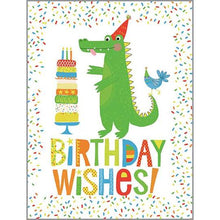 Load image into Gallery viewer, Crocodile Birthday Card