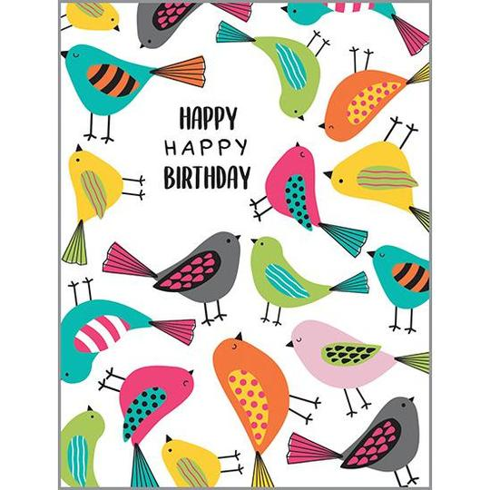 Happy Birthday Birds Card