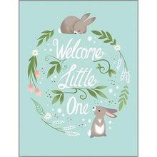 Load image into Gallery viewer, Welcome Little One Rabbits Baby Card