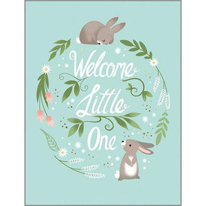 Welcome Little One Rabbits Baby Card