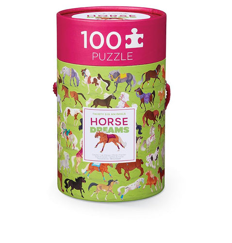 100 PC Horses Puzzle In A Can