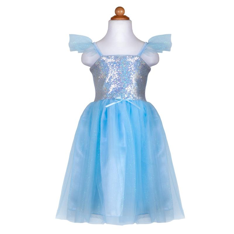 Sequins Princess Blue Dress Size 7-8