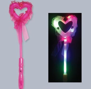 Big Heart Rose Light Up Wand