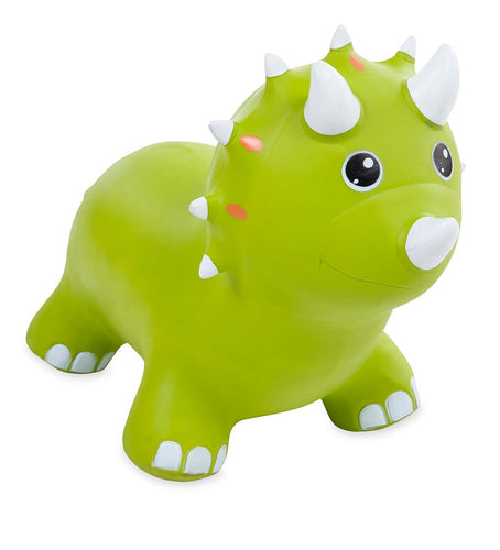 Green Triceratops Inflatable Jump Along