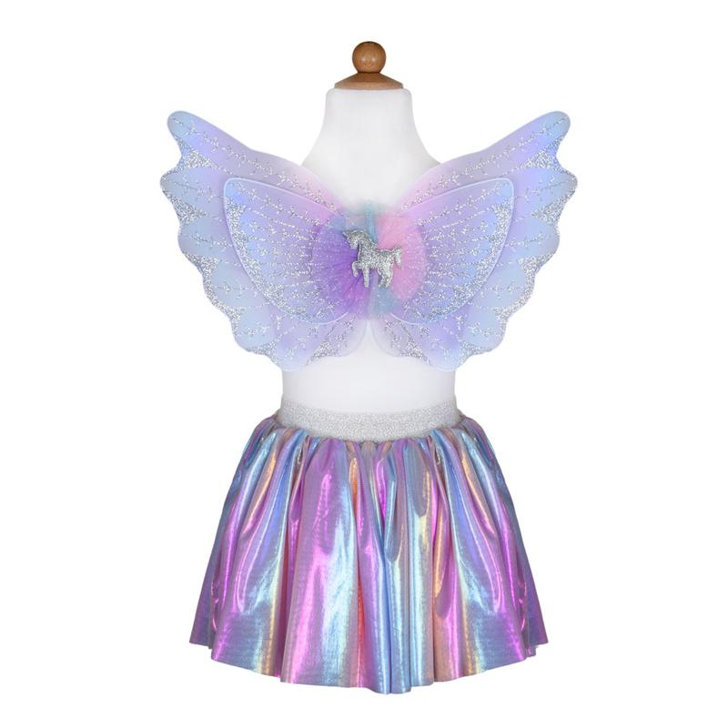 Magical Unicorn Pastel Skirt & Wings Small
