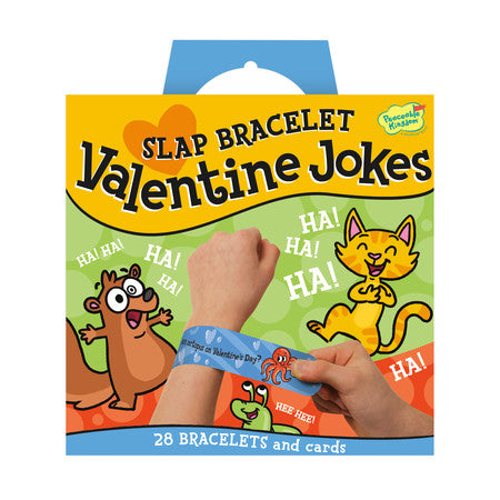 Valentine Jokes Slap Bracelet Cards