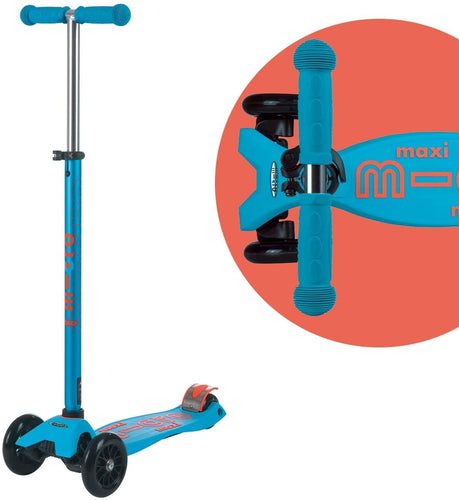Caribbean Blue Maxi Micro Kickboard Deluxe Scooter