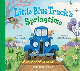 Little Blue Trucks Springtime Board Book