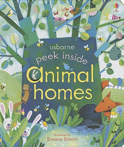 Peek Inside Animal Homes Board Book