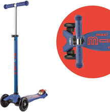 Load image into Gallery viewer, Blue Maxi Micro Kickboard Deluxe Scooter