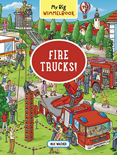 Fire Trucks Wimmelbook