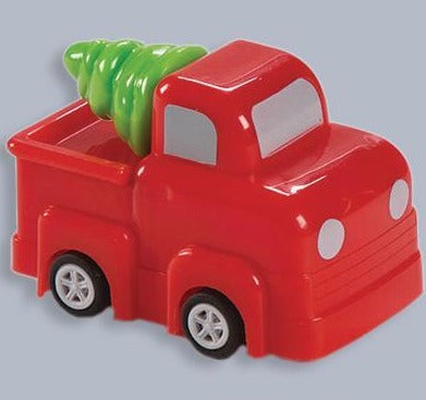 Red Truck With Tree Pullback