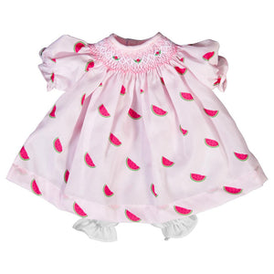 "15"" Light Pink Watermelon Doll Dress"