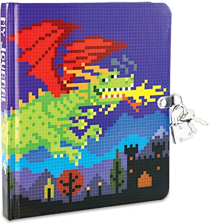 Pixel Dragon Lock & Key Diary
