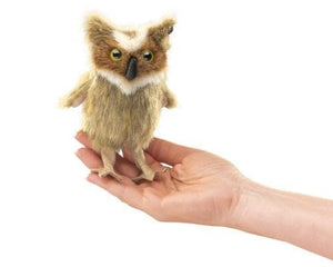 Mini Great Horned Owl Finger Puppet