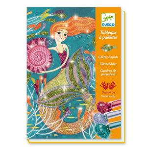 Mermaid Glitter Boards