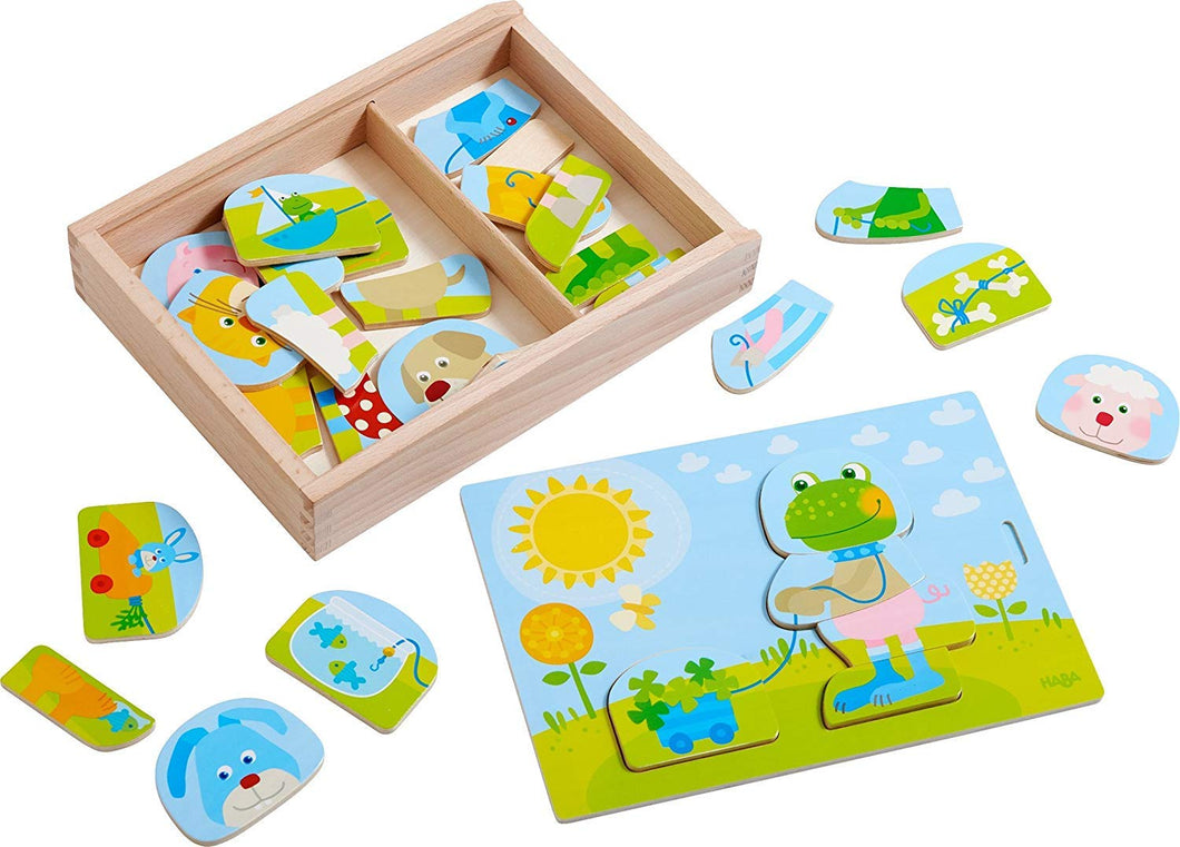Wooden Puzzle Merry Animal Mix & Match