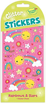 Rainbows and Stars Glitter Sticker Pack
