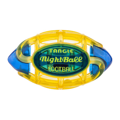 Football Nightball Yellow With Blue Tips