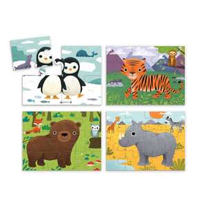 Animal 4 Puzzles In Box