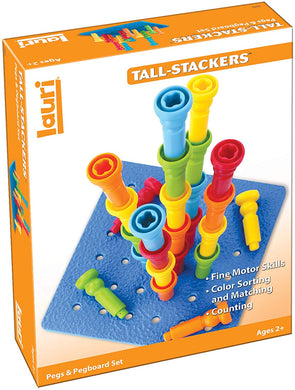 Tall Stacker Peg & Pegboard Set