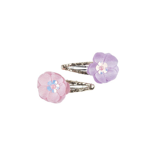 Flower Sparkle Hair Clips