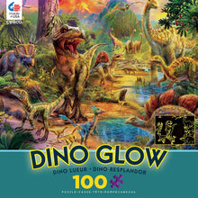 Load image into Gallery viewer, 100 PC Dino Glow Puzzles