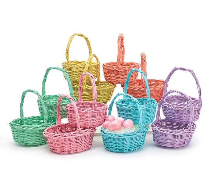 Medium Willow Basket With Spring Colors