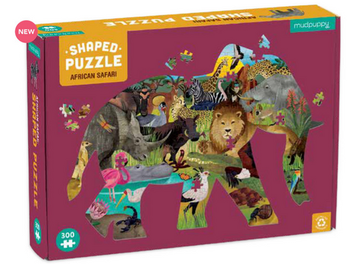 300 PC African Safari Shaped Puzzle