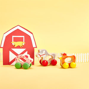 BARN CHASE WOODEN TOY 18 PC