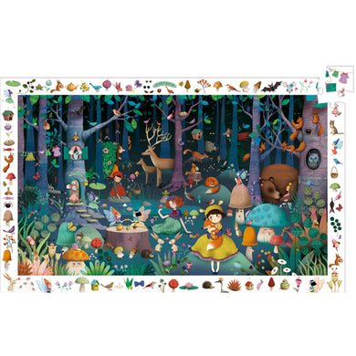 100 PC Enchanted Forest Observation Puzzle