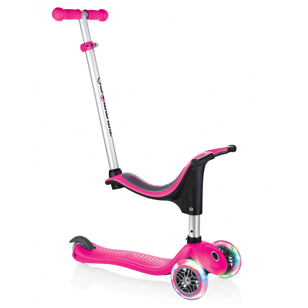 Deep Pink Evo 4in1 Scooter With Lights