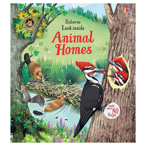 Animal Homes Look Inside Board Book